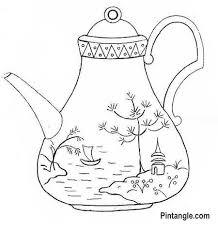 Free Hand Embroidery Patterns Awesome Free Hand Embroidery Pattern Of A Teapot Pintangle