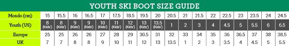 Black Diamond Ski Boots Size Chart Ski Boots Chart Kids Skis Sizing Chart Salomon Snowboard