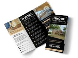 Brochures Classic Home Inspection Tri Fold Brochure Template