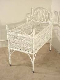 funky baby furniture. Antique White Wicker Crib Funky Baby Furniture