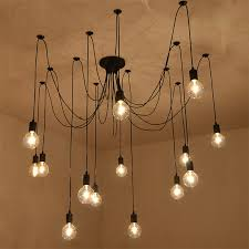 14 lights edison retro spider pendant light lighting ac 110 240v lighting chandeliers