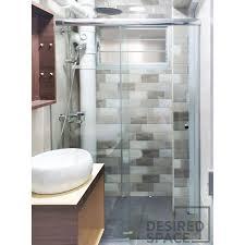frameless glass shower screen sliding
