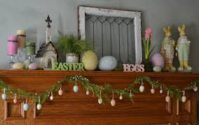 Small Picture Ideas Happy Easter With Lovely Easter Decor on the Mantel