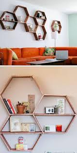 design of diy living room shelf ideas 26 diy living room decor ideas on a budget honeycomb shelves