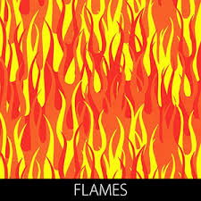 Flame Pattern Adorable Hydrographicfilmflames