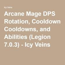 Wow Legion Dps Charts Arcane Mage Dps Rotation Cooldowns And Abilities Legion