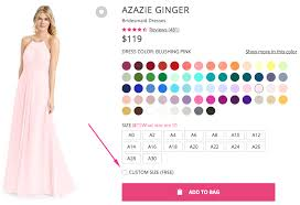 Colors Dress Size Chart Customer Support