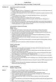Safety Manager Resume Samples Velvet Jobs