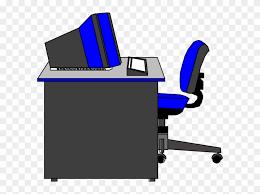computer desk clipart. Modren Computer Office Desk Clipart  Computer Intended O