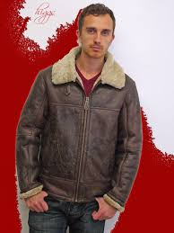 higgs leathers save 110 hurricane men s sheepskin flying jacket at uk