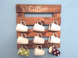 Coffee Cup Rack Under Cabinet Mug Rack Etsy