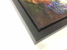 black wide tray frame