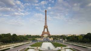 eiffel tower in paris france video background hd 1080p