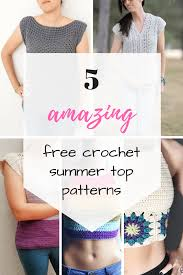 Free Crochet Top Patterns Cool Decoration