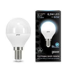 Купить <b>Лампа Gauss LED Globe</b> E14 6.5W 4100K по цене от 150 ...