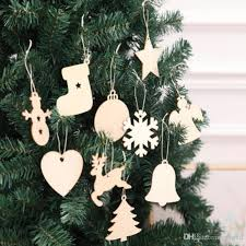 2018 10 styles wooden tags snowflake xmas tree socks snowman shape xmas decorations art craft ornaments g307 indoor decorations