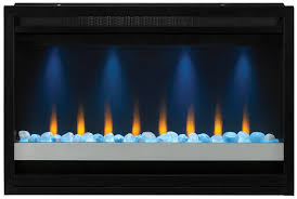 decoration electric firebox fireplace insert white contemporary double sided small modern wall ideas fancy amish built