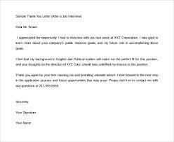 Formal Interview Letter Resume Template Sample