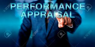 Manager Is Touching Performance Appraisal Onscreen. Business.. Stock ...