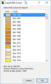 Ral 840 Hr Colour Chart Ral Color System Add On Knowledgebase Page Graphisoft