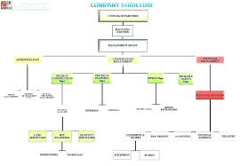 Construction Company Org Chart Company Structure Template Word