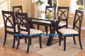 sheesham wood glass top dining set used dining table for in north east belgaum in