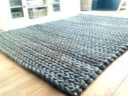 chunky knit rug grey herringbone jute the home ideas gray wool rugs herringbon