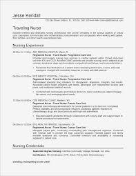 Example Of Nursing Resume Unique Writing A Nursing Resume Pdf Format