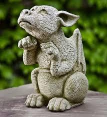 campania international ss the dragon cast stone garden statue