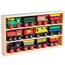 12 pcs wooden engines train cars collection fits thomas brio chuggington by orbrium toys for toys in new zealand