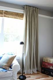 how to lengthen curtains that are too short diy embellished extra long ikea curtains