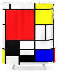 shower curtain clipart. society6 mondrian shower curtain contemporary-shower-curtains clipart
