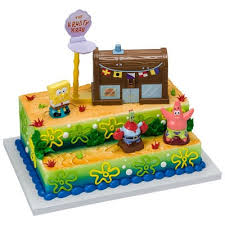 Kids And Character Cake Spongebob Squarepants Krusty Krab 14917