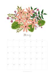 calendar for the month of may printable may 2018 calendar monthly planner flower design a