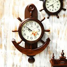 exquisite decoration anchor wall clock clocks and get free on aliexpress com