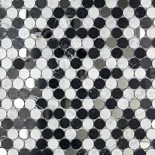 interior grey penny round tile backsplash diy project