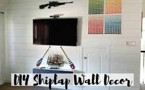 diy shiplap wall decor