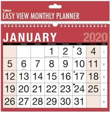 Details About 2020 Wall Calendar Home Office Easy Large Slim Memo 3 Month To View