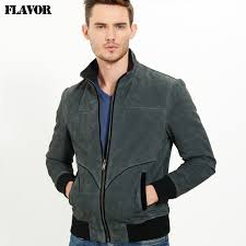2016 mens real leather jacket pigskin genuine leather jacket men leather coat padding cotton warm jackets