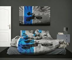 motocross bedding motocross comforter dream in extreme in blue from extremely stoked motocross bedding collection no fear motocross bedding twin