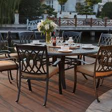 guam 71 round wood patio dining table
