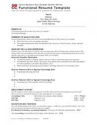 doc functional resume templates free – functional resume