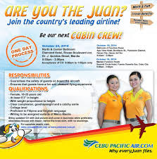 cebu pacific air is looking for cabin crews cebu pacific air cabin crew hiring