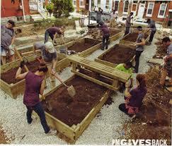 popular mechanics helps in the building of raised gardens in philadelphia