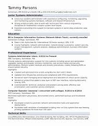 Network Administrator Resume Sample Updated System Administrator