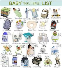 list of items needed for baby a list of baby must haves great guide on what to get before the