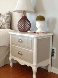 Image Makeover Two Tone Painted Bedside Table Instructions To Repaint Bedside Tables Pinterest Two Tone Painted Bedside Table In 2019 Refurbished Refinished