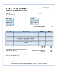 Catering Invoice Sample Impressive Invoice Template For Catering Services Denryoku