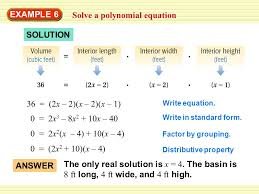 example 6 solve a polynomial equation solution 36 2x 2 x