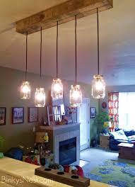 homemade lighting fixtures. Mason Jar \u0026 Rustic Pallet Light Fixture DIY On BinkysNest.com Homemade Lighting Fixtures Y
